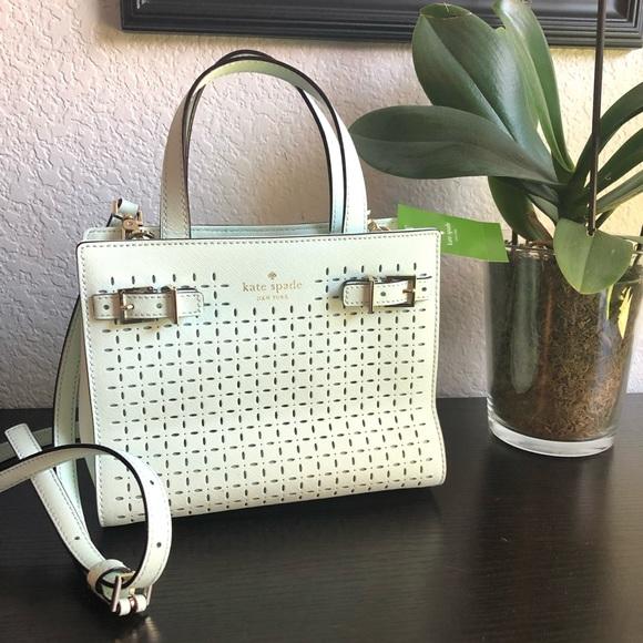 kate spade Handbags - ♠️Kate Spade Small Lanie Milton Lane Saffiano Mint
